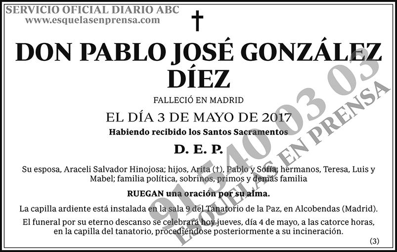 Pablo José González Díez